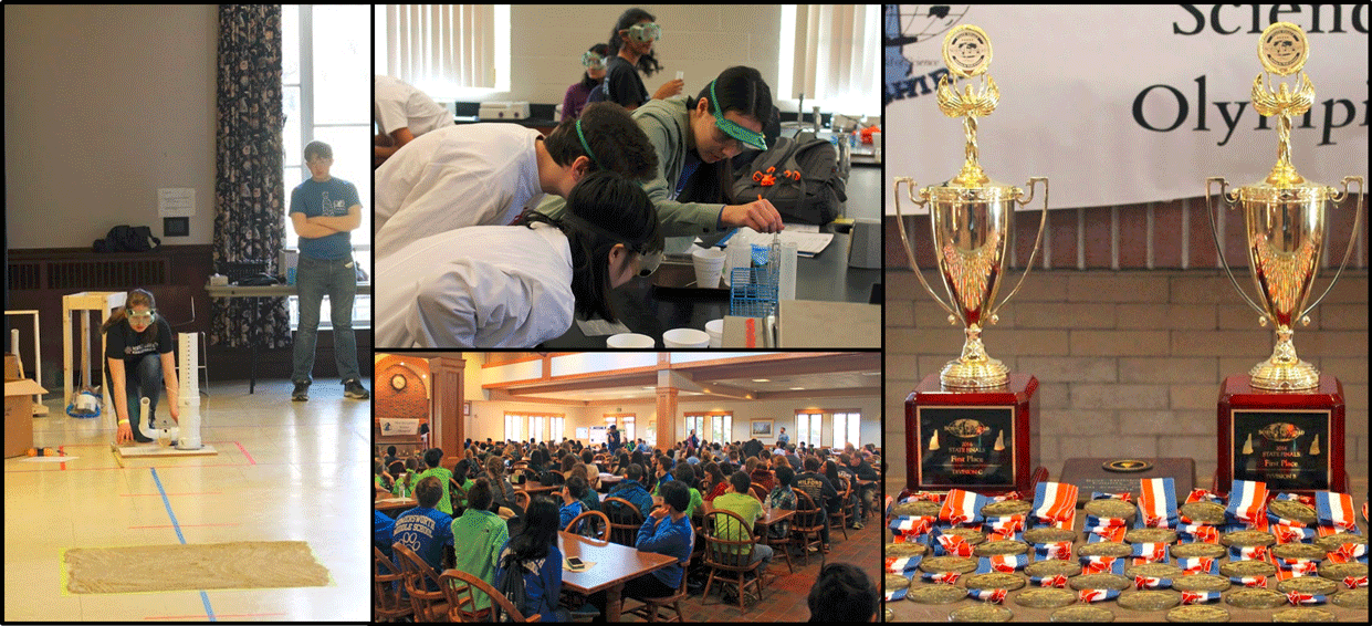 Participants in the 2016 New Hampshire Science Olympiad Competition