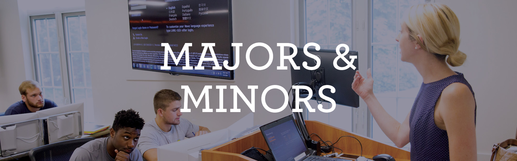 Majors and minors information