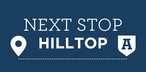 Next Stop Hilltop graphic