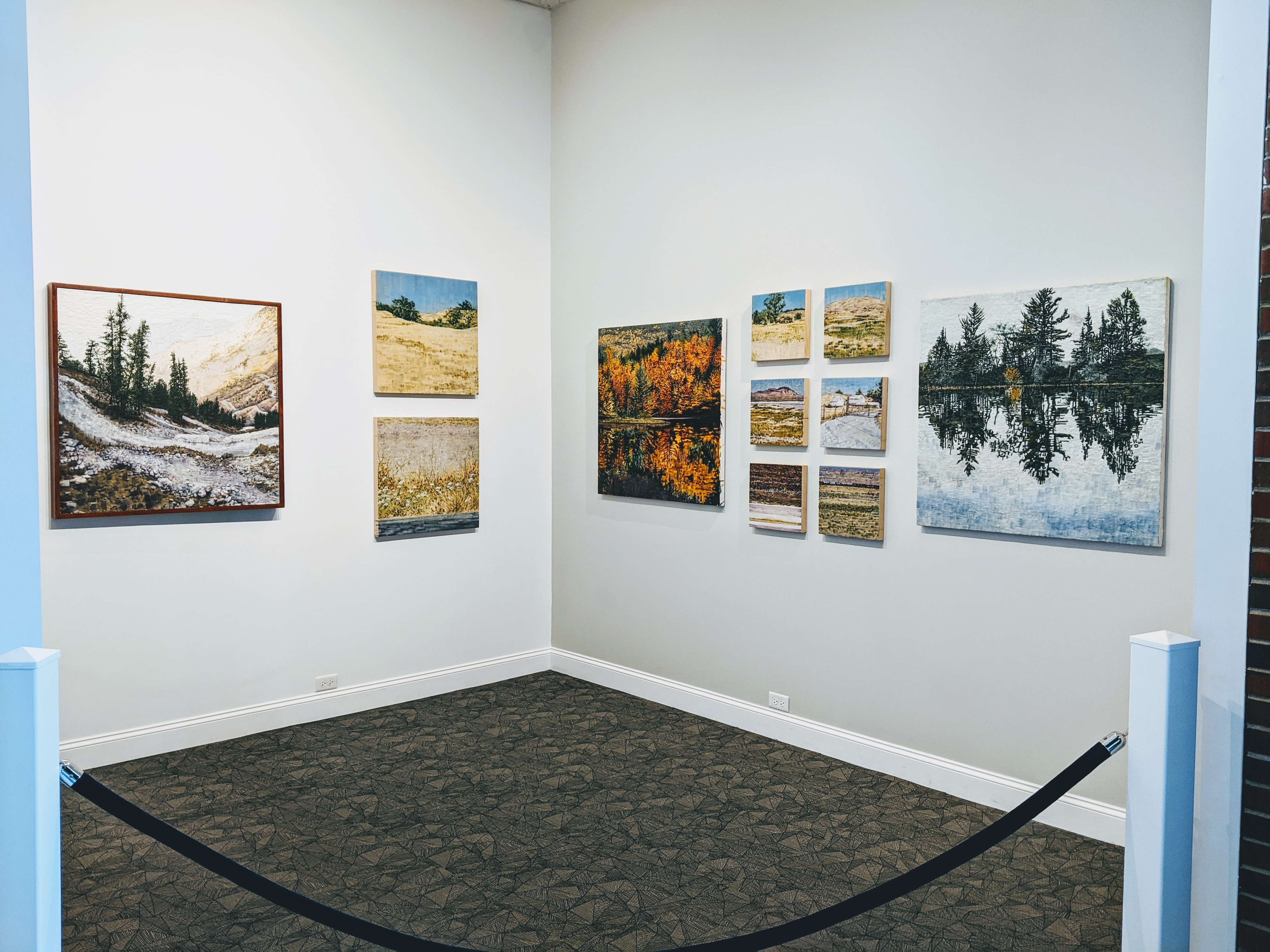 Image of Earl Schofield's art exhibition