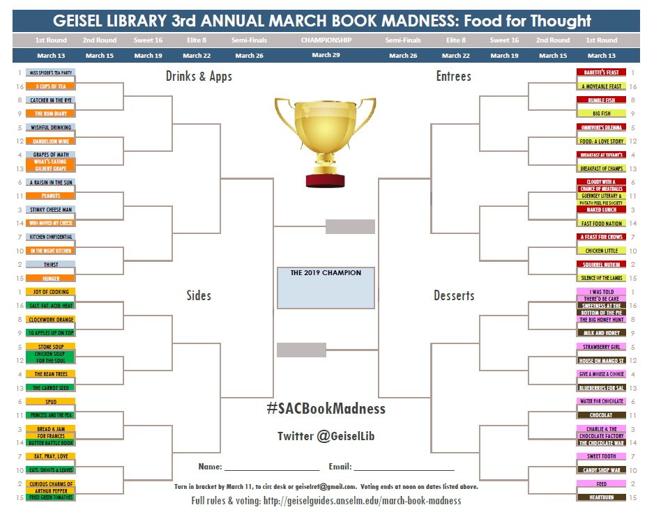March Book Madness Bracket Image