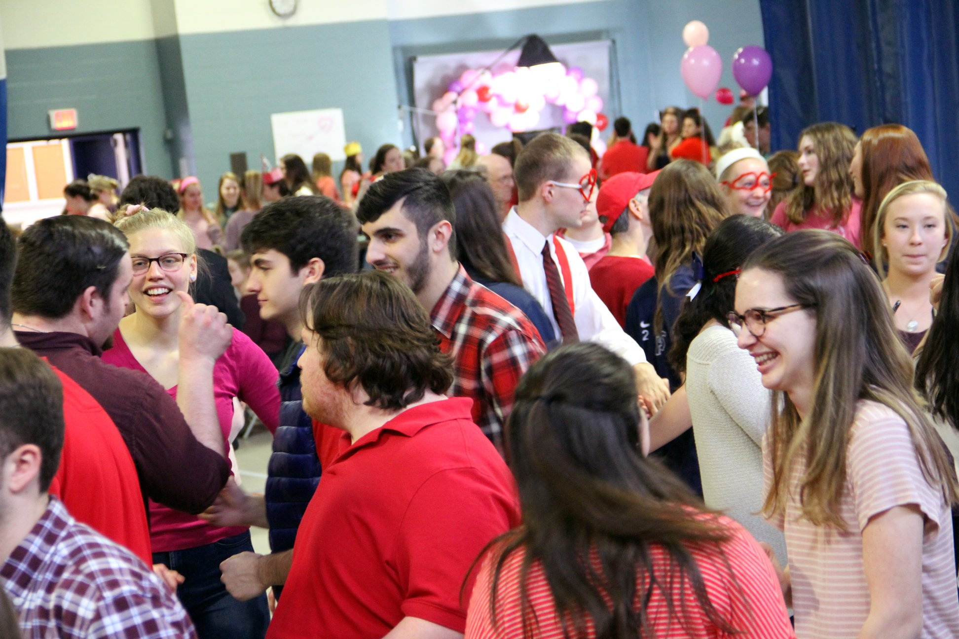 people dancing at the Valentine's Day dance
