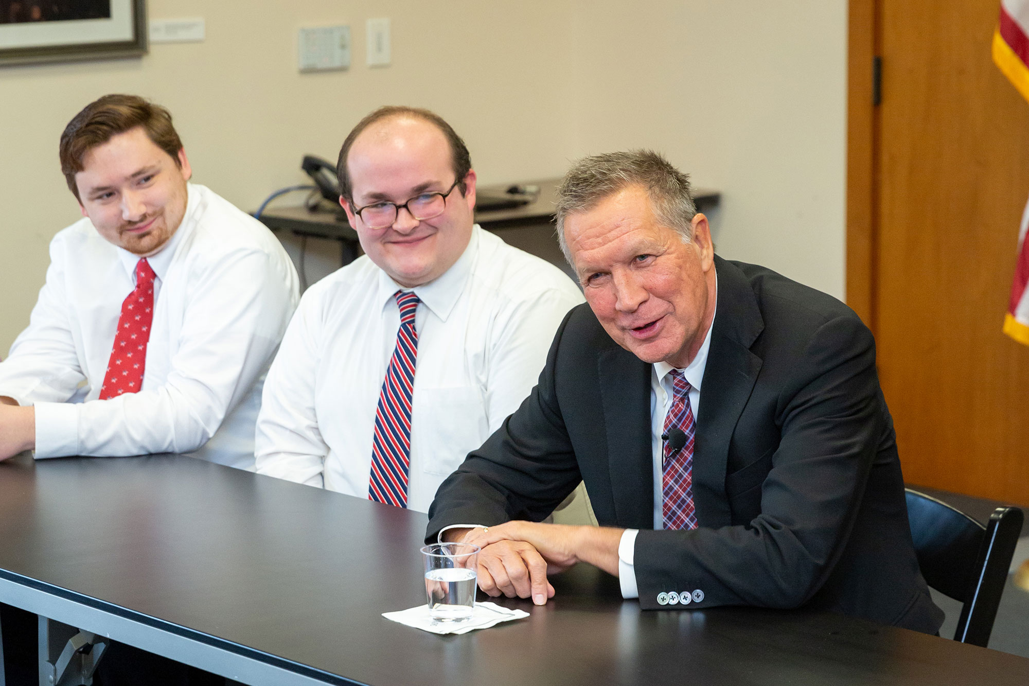 John Kasich with students