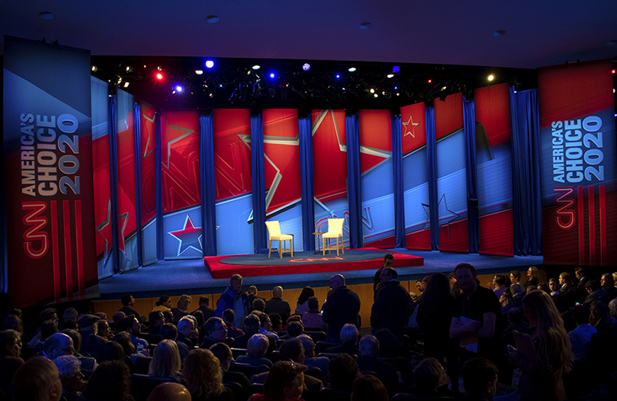 CNN town hall stage