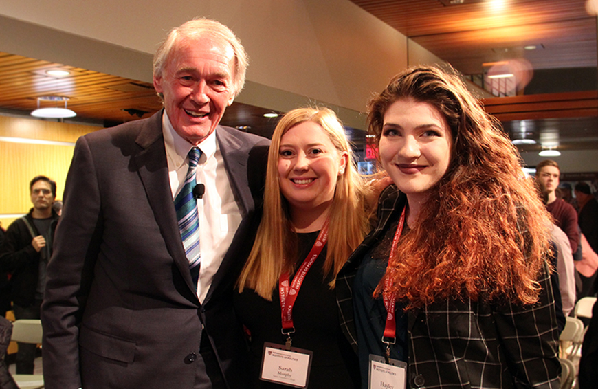 Ed Markey, Sarah, and Hayley (Photo credit: Dyan Ciccone)