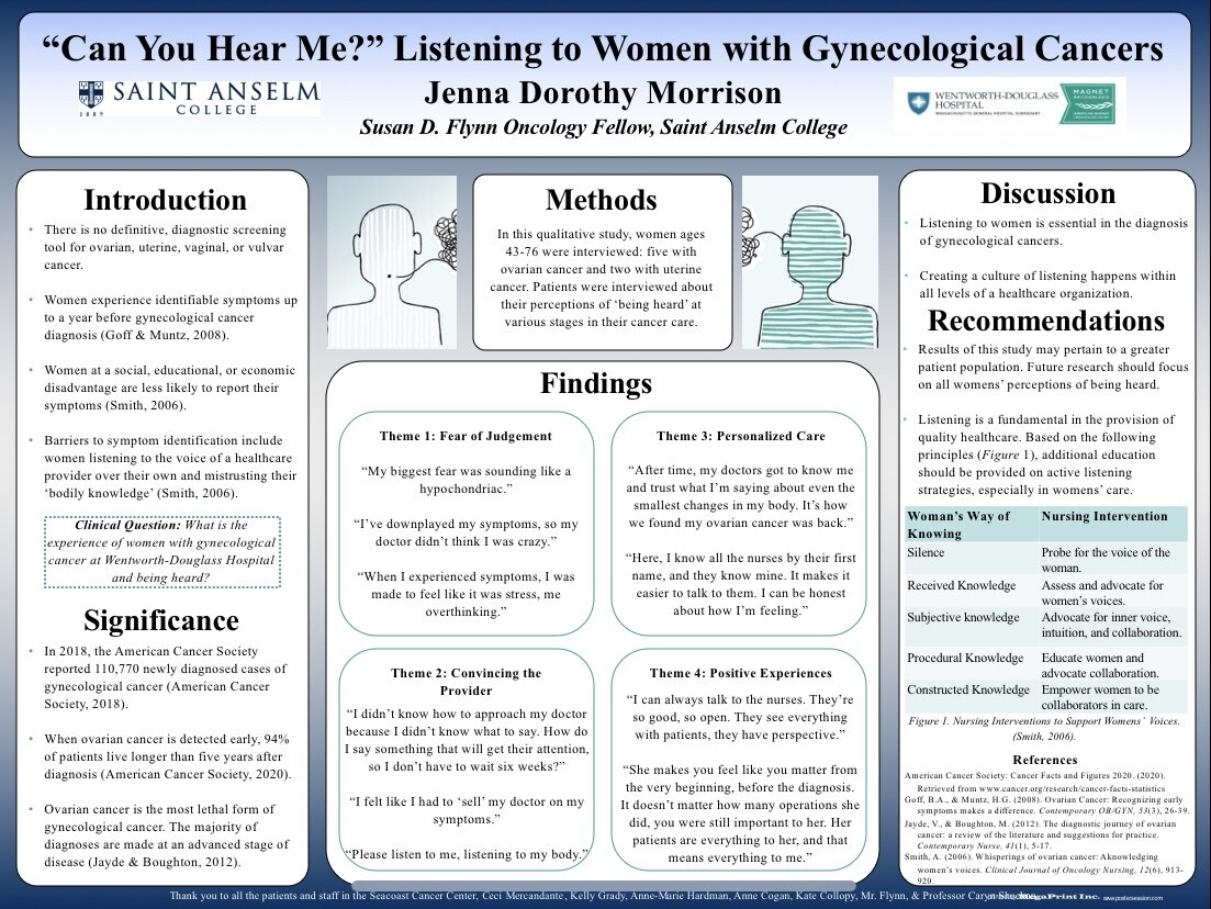 Jenna Morrison's research poster