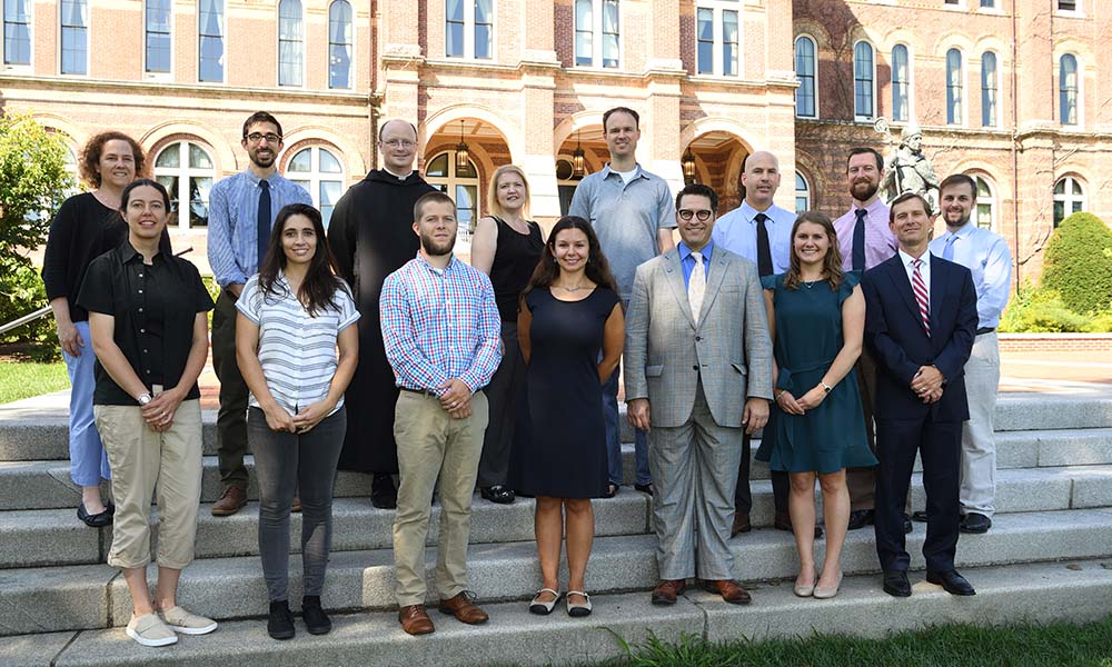 group of new faculty members