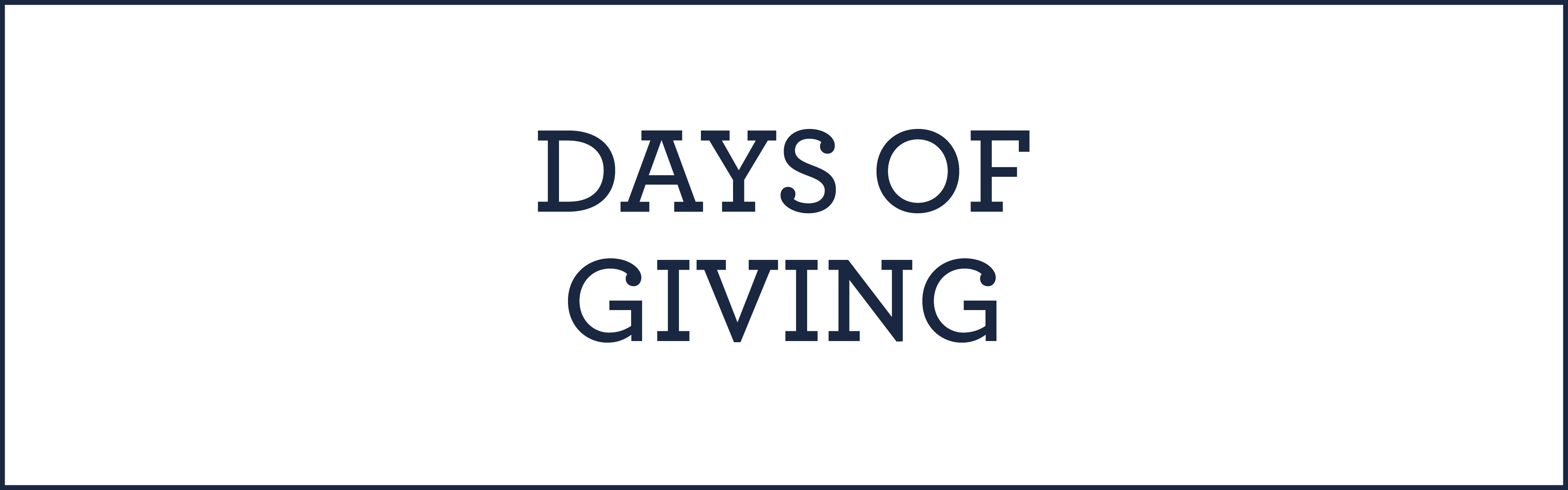 days of giving event information