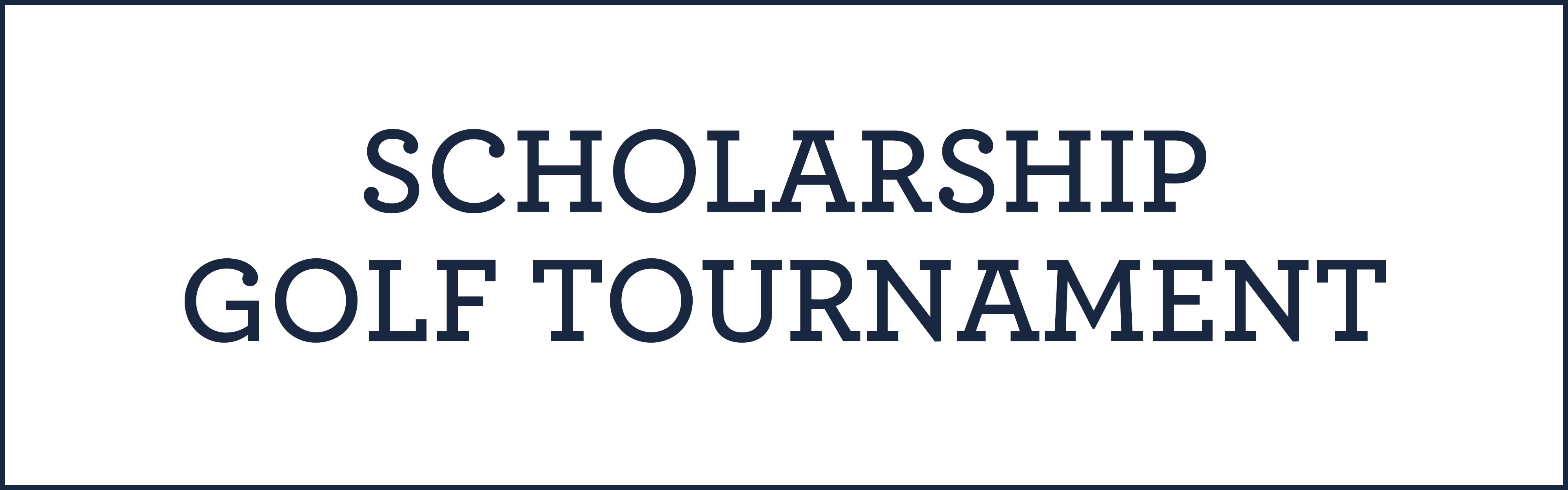 scholarship golf tournament event information