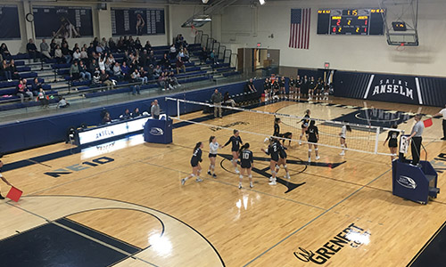 volleyball game in the carr center