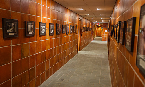 hall of photos taken over the years at the institute of politics