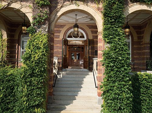 alumni hall front doors