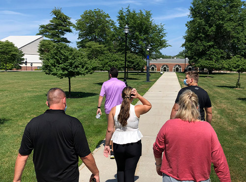 tour of campus led by a student ambassador