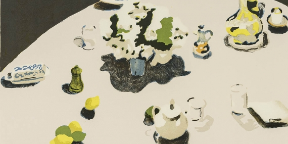 Fairfield Porter, The Table, 1971, color lithograph.